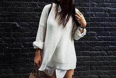 #sweater #shirt #layers