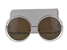 Chloe CE114S Sunglasses Carlina Gold w/Transparent Brown Gradient Lens 743 CE 114S. Chloe Eyewear Collection. Model: CE114S. Color Code: 743 Gold. Designer eyewear comes with original case, cleaning cloth and certificate of authenticity. We handle prescription orders! Email us for details! Visit our storefront: https://www.amazon.com/s?marketplaceID=ATVPDKIKX0DER&me=A1WUXX7TFM8VUI&merchant=A1WUXX7TFM8VUI&redirect=true.