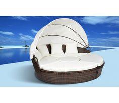 Wicker Lounge Tuinset  Puzzel Bruin