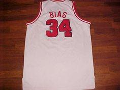 5c6ee9a467ed Headmaster Hardwood NCAA 1985 Maryland Terps Len Bias White Basketball  Jersey 56 Basketball Jersey