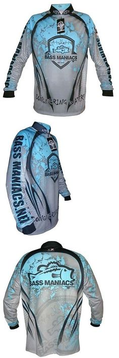 Shirts and Tops 179982: Bass Maniacs Fishing Jersey Splash Blue Tournament Jersey Upf50 -> BUY IT NOW ONLY: $59.99 on eBay!