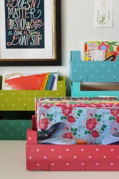 reciclar cajas de fresas con pintura laloleblog