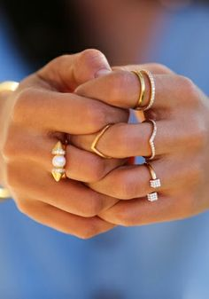 V ring // stacked + layered