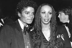 Michael Jackson and Donna (1982)   #DonnaSummer #Disco