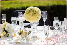 Yellow Centerpieces Spring Wedding, Our Wedding, Yellow Centerpieces, Catering Companies, Event Venues, Real Weddings, Preppy, Dishes, Night