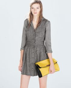 Image 1 of PINAFORE WITH SLITS from Zara