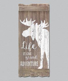 Look at this #zulilyfind! Moose 'Grand Adventure' Wall Sign #zulilyfinds