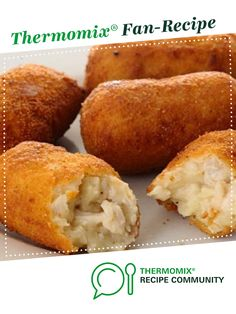 Recipe Ham croquetas by learn to make this recipe easily in your kitchen machine and discover other Thermomix recipes in Starters. Dutch Recipes, Cuban Recipes, Entree Recipes, Appetizer Recipes, Recipes Dinner, Chicken Croquettes, Croquettes Recipe, Christmas Entrees, Cooking