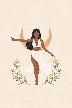 Black Girl Art, Black Art, Art Girl, Art And Illustration, Illustrations, Images Instagram, Aesthetic Art, Female Art, Line Art