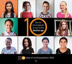 20 octobre 2016 - Le Fonds des Nations Unies pour la population (UNFPA/FNUAP) publie aujourd'hui le rapport sur l'État de la population mondiale qui met en évidence le besoin d'investir dans les filles de 10 ans et de leur donner les moyens de devenir des agents du changement. L'aspect du monde dans 15 ans dépendra de notre capacité à faire ce qui est en notre pouvoir pour éveiller leur potentiel aujourd'hui.