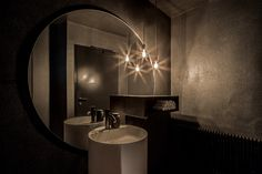 Housed in a historic building in Linz, Austria, Rossbarth is a new restaurant by two young chefs, Sebastian Rossbach and Marco Barth whose core mission in the kitchen is to combine familiarity with. Bar Design Awards, Diy Bathroom Decor, Small Bathroom, Bathrooms, Bathroom Designs, Bathroom Remodeling, Bathroom Lighting, Bathroom Ideas, Living Room Sofa Design