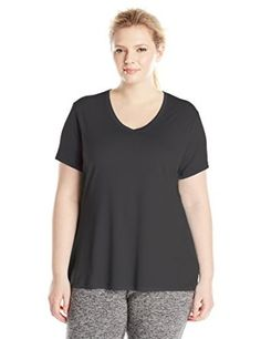 Just My Size Women's Plus-Size Cooldri s/V-Neck at Amazon Women's Clothing store: