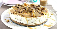 A rich and indulgent no-bake  cheesecake with a chocolate digestive base, a creamy honeycomb middle (courtesy of crushed up Cadbury's Crunchie Bars) and a salted caramel topping.
