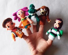 Finger puppets Toy Story,Buzz Lightyear,home accessory gift for kids,Woody,amigurumi,crochet finger theater,crochet puppets,baby gift,Kids de GMmasDesign en Etsy