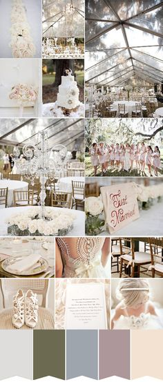 neautral and nude wedding colour palette  For more insipiration visit us at https://facebook.com/theweddingcompanyni or http://www.theweddingcompany.ie