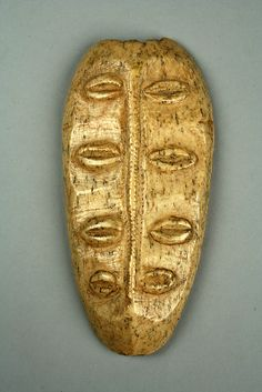 Bwami Maskette: Four Sets of Eyes, 19th–20th century  Democratic Republic of the Congo  Lega peoples  Bone