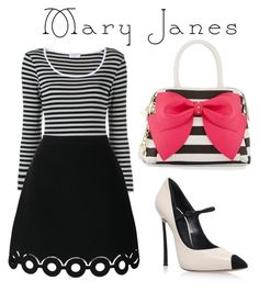 """""""mary Jane contest"""" by rhianna-alexandre ❤ liked on Polyvore featuring Casadei, Betsey Johnson, Frame Denim and Carven"""