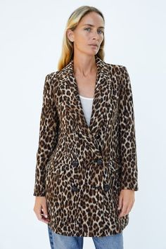50681171f33 Image 2 of LEOPARD PRINT JACQUARD COAT from Zara Леопардовое Пальто