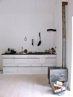 Keuken met kachel