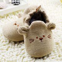 Moda de Nova Outono Inverno Sapatos de Bebê Meninas Primeiro Walkers Newborn…
