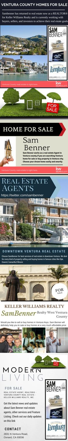 Choose #SamBenner for best services of #real estate in #downtown #Ventura. We deal for every kind of #property #selling and #buying homes in famous cities like #Ojai,#Oxanrd, Camarillo,Fillmore.