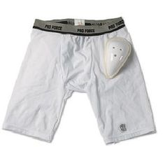 """ProForce Compression Shorts w/ Cup Boys Medium 24-27"""" by Pro Force. $23.15. About This Item  Size: Boys; Medium 24-27""""  The moisture wicking fabric will keep you fresher and drier!  Wicking performance fabrics draw moisture away from your body to keep you cool and dry. Ultra blend comfort for all ages will help you perform like a champ. The multi-stretch fabric is reinforced with flatlock seams. The meshed cup pocket allows air to flow and keeps the vented TPR cup in pla..."""
