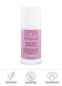 Need a vegan, gluten-free moisturizer with SPF? Then our Aloe Day Cream is for you!