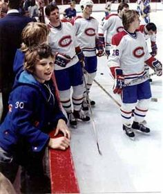 Martin Brodeur on the bench prior to a Canadiens game.