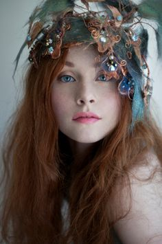 ☽ RoseApples ☾ ...renfaire hair decoration