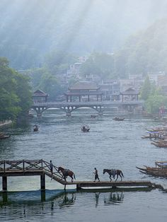 Fenghuang, early in the morning (by tu_geo) (Source: woodendreams, via wishflowers)