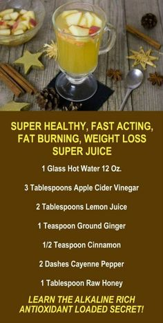 21 Minutes a Day Fat Burning - Apple Cider Vinegar Fat Burning Weight Loss Metabolism Boosting Juice. Are you trying to lose weight? Our incredible alkaline rich antioxidant loaded weight loss products help you increase energy detox cleanse burn fa Detox Cleanse For Weight Loss, Body Cleanse, Cleanse Detox, Diet Detox, Fat Burning Detox Drinks, Fat Burning Foods, Weight Loss Drinks, Healthy Weight Loss, Fat Loss Diet