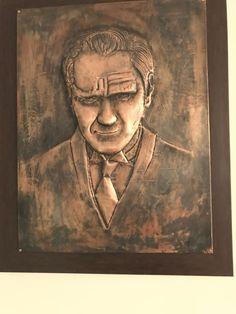 Bakır levhadan Atatürk rölyef