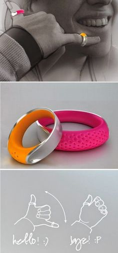 Best Latest Technology: The color rings is wireless...best way in cell phone communication d'autres gadgets ici : http://s.click.aliexpress.com/e/7YfqNB6