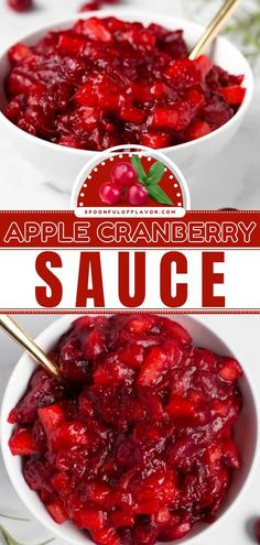 This easy homemade apple cranberry sauce recipe with orange and ginger is the best! Not only is this Thanksgiving side dish packed with flavor, but it is also healthy. Add this to your holiday dinner ideas! Thanksgiving Dinner Recipes, Thanksgiving Side Dishes, Holiday Dinner, Cranberry Orange Sauce, Turkey Stuffing Recipes, Side Dish Recipes, Easy Recipes, Orange Recipes
