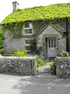 English Cottage Dreams! Hartington, Derbyshire, UK (by Blue sky and countryside)