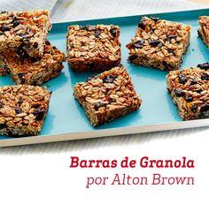 Já pensou em fazer na sua casa aquela famosa barrinha de cereais? O Alton Brown pode te ajudar...
