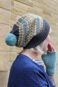 Baa Ram Ewe Northallerton Fair Isle Hat Knitting Pattern | Hat Knitting Patterns