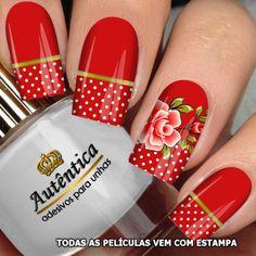 Cute Nail Art, Cute Nails, Pretty Nails, Nail Polish Designs, Nail Art Designs, Nagel Bling, Floral Nail Art, Nagel Gel, Flower Nails