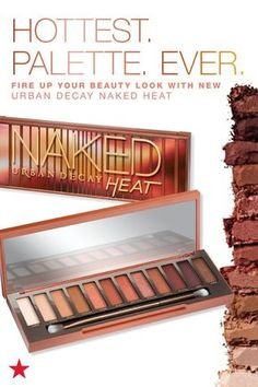 Summer is heating up now that the Urban Decay Naked Heat palette is finally here. Fire up your beauty look with 12 all-new, amber-hued eyeshadow shades. From matte red-browns to metallic copper, there's so many ways to create a hot new look. Click to shop at Macy's.