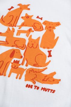 Becky, look at her mutt.Handprinted on UNISEX white cotton tee. Simple Illustration, Dog Illustration, Animal Illustrations, Watercolor Tiger, Animal Magic, Cute Characters, Cute Drawings, Character Design, Artsy