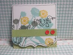 "3 x 3"" Note Card using the Zoe Paper Pack- Item Number: X7197B"