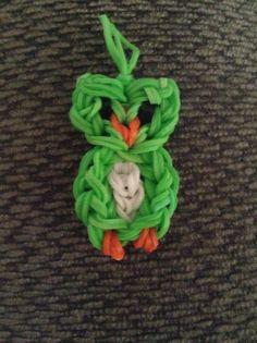Cute owl rainbow loom charm!!