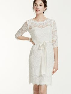 This dress would be perfect for a #rehearsal dinner! @davidsbridal