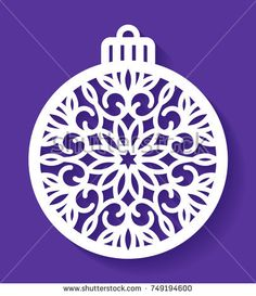 Laser cut template of Christmas ball with a snowflake. Xmas tree decoration for laser cutting, plotter cutting, printing. Vector illustration on a blue background. Openwork ball with a lace ornament. Blossom Tree Tattoo, Pine Tree Tattoo, Cool Christmas Trees, Christmas Balls, Christmas Toys, Christmas Ornaments, Family Tree Poster, Celtic Tree Of Life, Xmas Tree Decorations