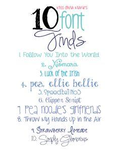 Ten Font Finds