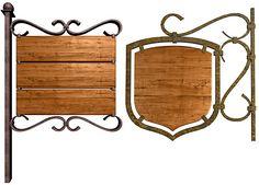 鉄と木の看板 Laundry Service, Wrought Iron, Signage, Chalkboard, Logo Design, Wood, English, Flower, Licence Plates