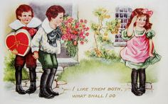 postcardiva postcard blog: CHILDREN on VALENTINE Postcards