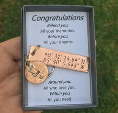 Gift, Latitude & Longitude GPS Keychain With Lucky Penny Graduation Gift, Latitude & Longitude GPS Keychain With Lucky Penny. Graduation Gift, Latitude & Longitude GPS Keychain With Lucky Penny. 2018 Keychain Graduation Gift Class of Gift for Her Bday Gifts For Him, Surprise Gifts For Him, Thoughtful Gifts For Him, Romantic Gifts For Him, High School Graduation Gifts, Graduation Gift For Boyfriend, Gifts For College Graduates, Graduation Presents For Him, College Graduation Quotes