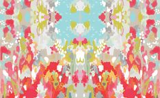 watercolor ikat on heavy cotton twill | candy kir by designs