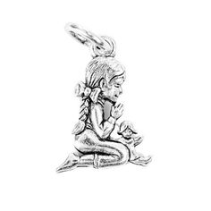 Praying Child Silver Character Charm